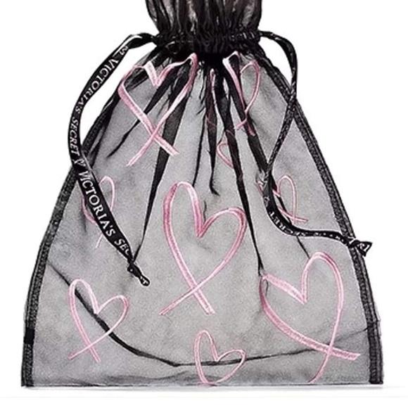 Victoria's Secret Handbags - Victoria's Secret Drawstring Mesh Lingerie Pouch